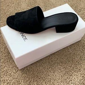 Vince Womens Rachelle Dress Sandal Black Suede 9.5